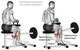 Sitting calf raises